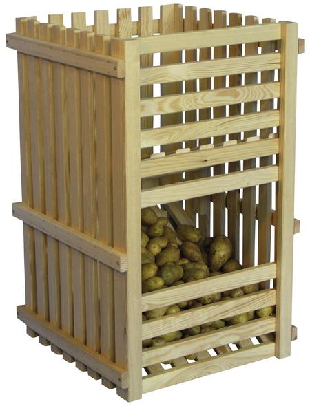 FLORAWORLD Kartoffelhorde, BxHxL: 50 x 80 x 50 cm, Holz