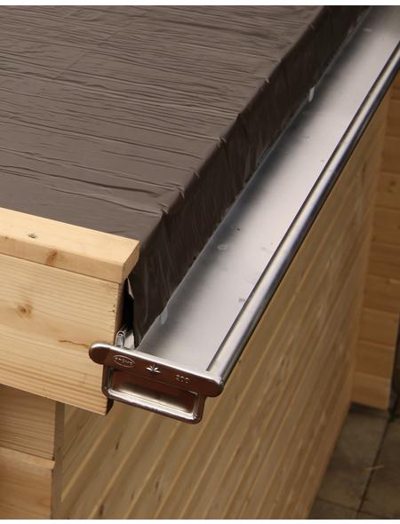 WOLFF Kastendachrinne für Finnhaus Wolff-Produkte, BxT: 7 x 400 cm, Aluminium
