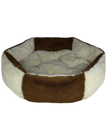 Katzen-Bett, weiß/braun