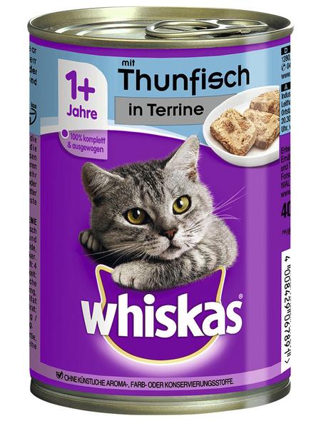 WHISKAS Katzen Nassfutter »1+ Jahre«, Thunfisch, 12x400 g