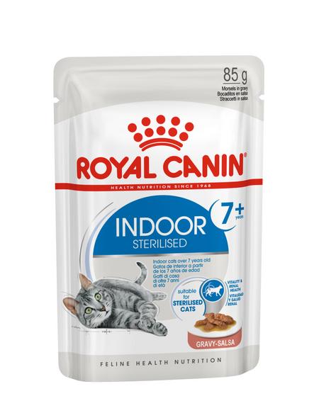 ROYAL CANIN Katzen-Nassfutter, 1 x FHN Pouch Indoor 7+ in Sauce