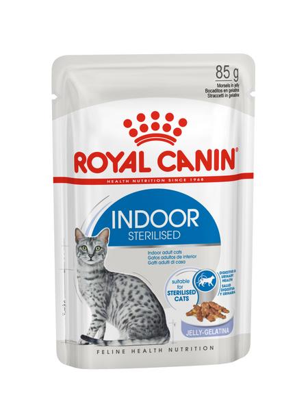 ROYAL CANIN Katzen-Nassfutter, 1 x FHN Pouch Indoor in Gelee