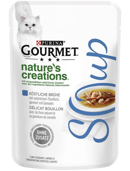 GOURMET Katzen-Nassfutter, 40 g, Thunfisch/Shrimps