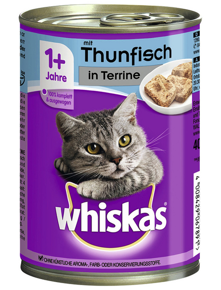 WHISKAS Katzen-Nassfutter, 400 g