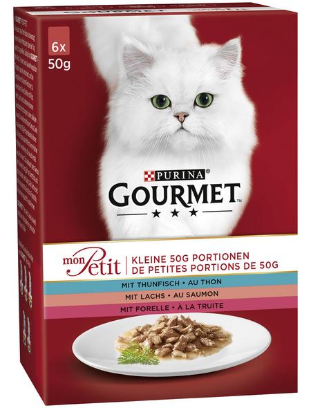 GOURMET Katzen-Nassfutter, 50 g, Fisch