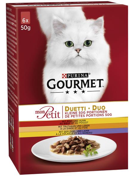 GOURMET Katzen-Nassfutter, 50 g, Fleisch