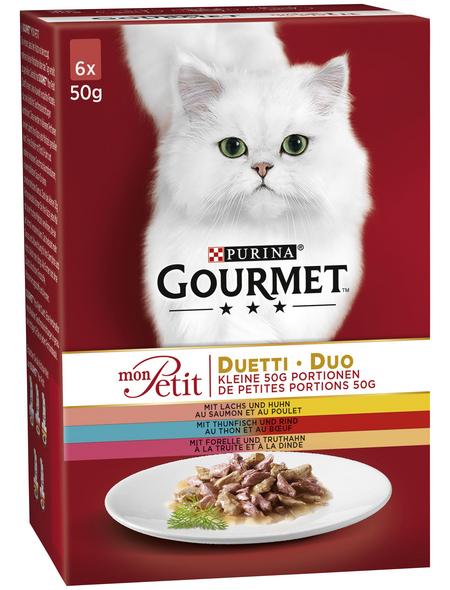 GOURMET Katzen-Nassfutter, 50 g, Fleisch/Fisch