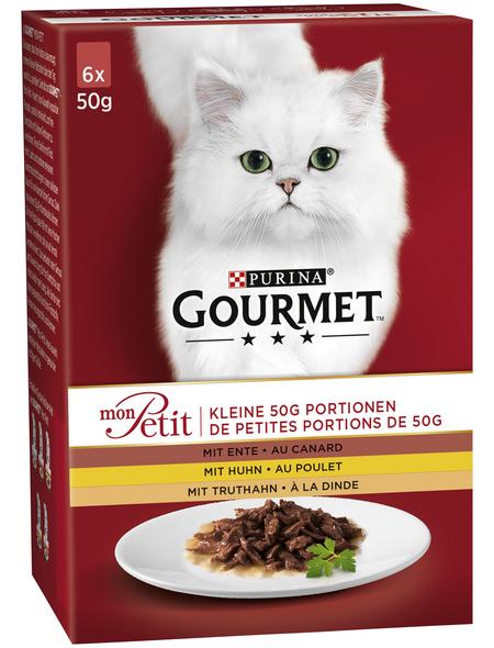 GOURMET Katzen-Nassfutter, 50 g, Geflügel