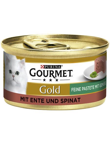 GOURMET Katzen-Nassfutter, 85 g, Ente/Spinat