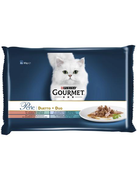 GOURMET Katzen-Nassfutter, 85 g, Fisch