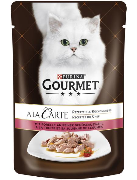 GOURMET Katzen-Nassfutter, 85 g, Forelle