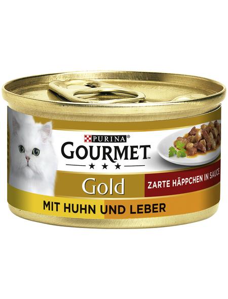 GOURMET Katzen-Nassfutter, 85 g, huhn/leber