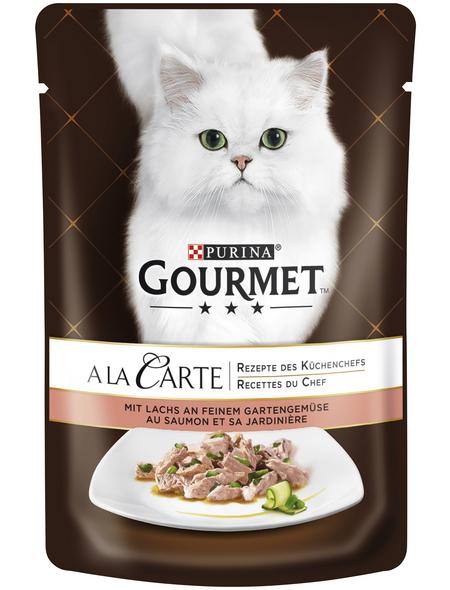 GOURMET Katzen-Nassfutter, 85 g, Lachs