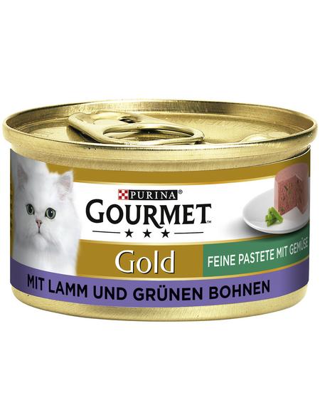 GOURMET Katzen-Nassfutter, 85 g, Lamm/Bohnen
