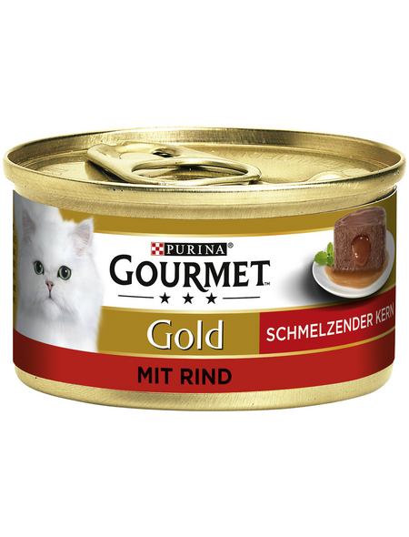 GOURMET Katzen-Nassfutter, 85 g, Rind