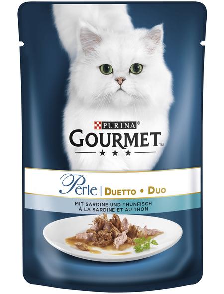 GOURMET Katzen-Nassfutter, 85 g, Sardinen