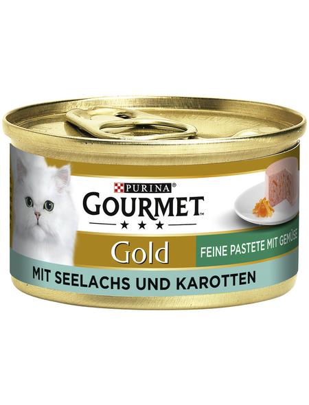 GOURMET Katzen-Nassfutter, 85 g, Seelachs