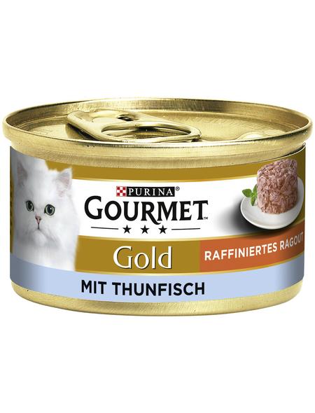 GOURMET Katzen-Nassfutter, 85 g, Thunfisch