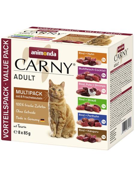 CARNY® Katzen-Nassfutter »Adult«, 8 x 85 g