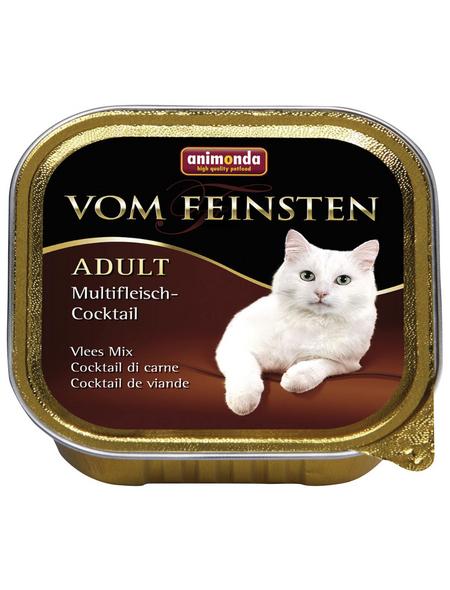 VOM FEINSTEN Katzen-Nassfutter »Adult«, Fleisch, 32 Schalen, je 100 g