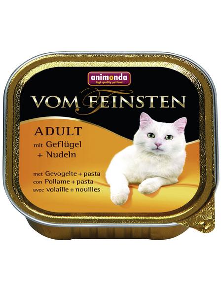VOM FEINSTEN Katzen-Nassfutter »Adult«, Geflügel/Nudeln, 100 g
