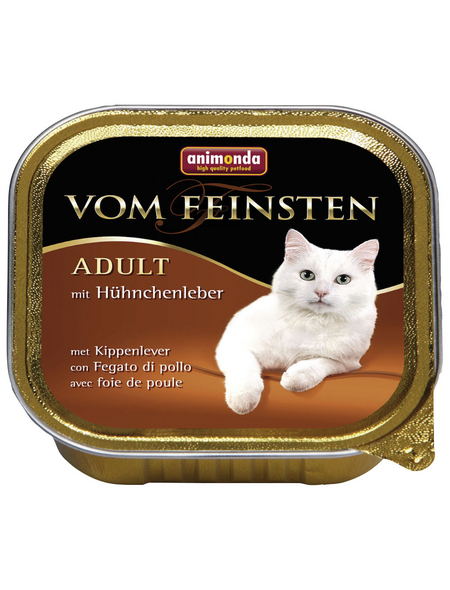 VOM FEINSTEN Katzen-Nassfutter »Adult«, Hühnchen, 32 Schalen, je 100 g