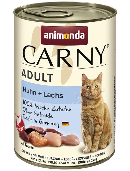 CARNY® Katzen-Nassfutter »Adult«, Huhn/Lachs, 400 g