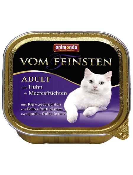 VOM FEINSTEN Katzen-Nassfutter »Adult«, Huhn/Meeresfrüchte, 100 g