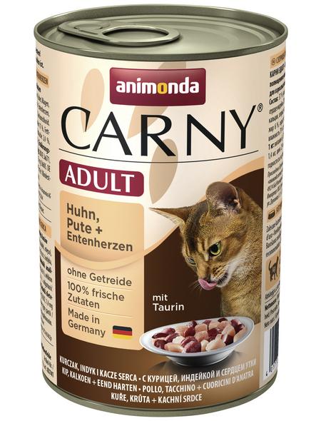 CARNY® Katzen-Nassfutter »Adult«, Huhn/Pute/Ente, 400 g