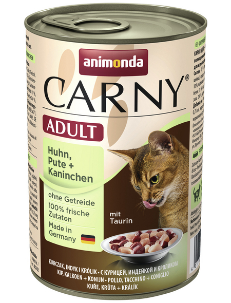 CARNY® Katzen-Nassfutter »Adult«, Huhn/Pute/Kaninchen, 400 g