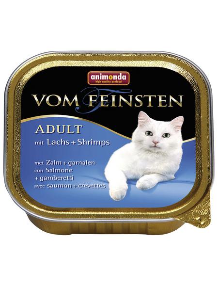 VOM FEINSTEN Katzen-Nassfutter »Adult«, Lachs/Shrimps, 32 Schalen, je 100 g