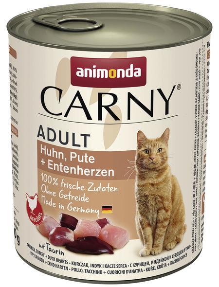 CARNY® Katzen-Nassfutter »Adult«, Pute/Huhn/Ente, 800 g