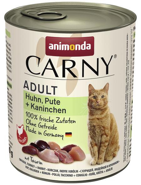 CARNY® Katzen-Nassfutter »Adult«, Pute/Huhn/Kaninchen, 800 g