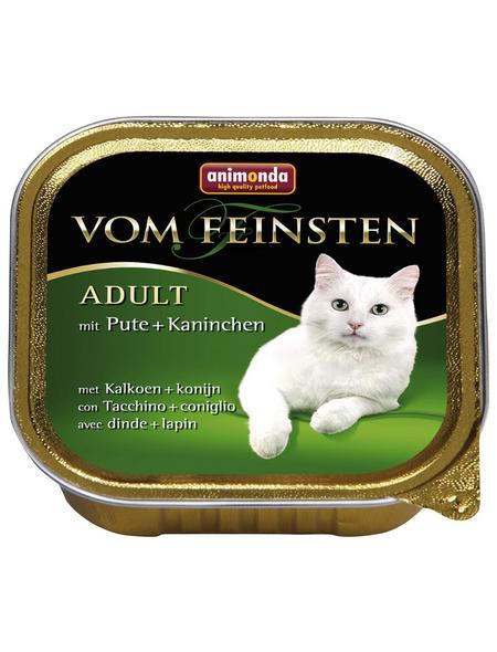 VOM FEINSTEN Katzen-Nassfutter »Adult«, Pute/Kaninchen, 32 Schalen, je 100 g