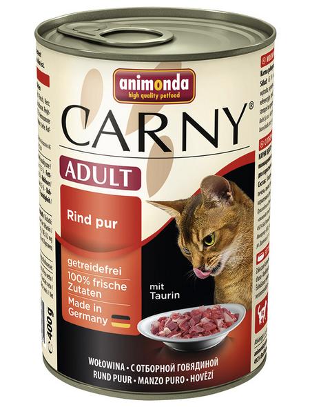 CARNY® Katzen-Nassfutter »Adult«, Rind, 400 g