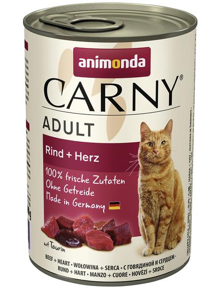 CARNY® Katzen-Nassfutter »Adult«, Rind/Herz, 400 g