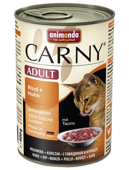 CARNY® Katzen-Nassfutter »Adult«, Rind/Huhn, 400 g