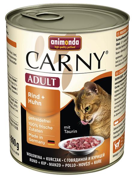 CARNY® Katzen-Nassfutter »Adult«, Rind/Huhn, 800 g