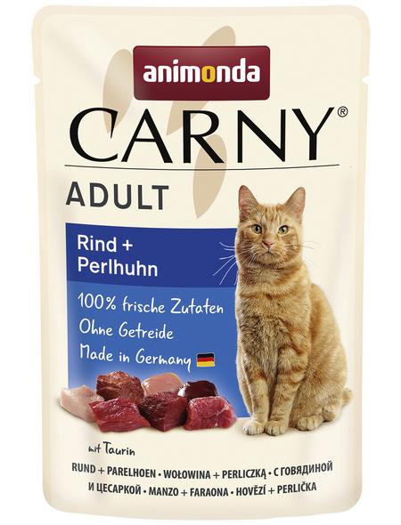 CARNY® Katzen-Nassfutter »Adult«, Rind/Huhn, 85 g