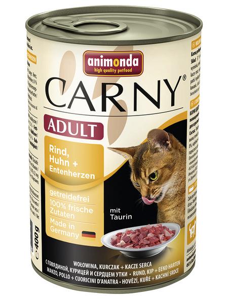 CARNY® Katzen-Nassfutter »Adult«, Rind/Huhn/Ente, 400 g