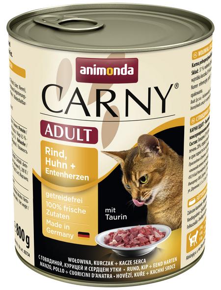 CARNY® Katzen-Nassfutter »Adult«, Rind/Huhn/Ente, 800 g