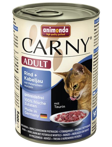 CARNY® Katzen-Nassfutter »Adult«, Rind/Kabeljau/Petersilie, 400 g