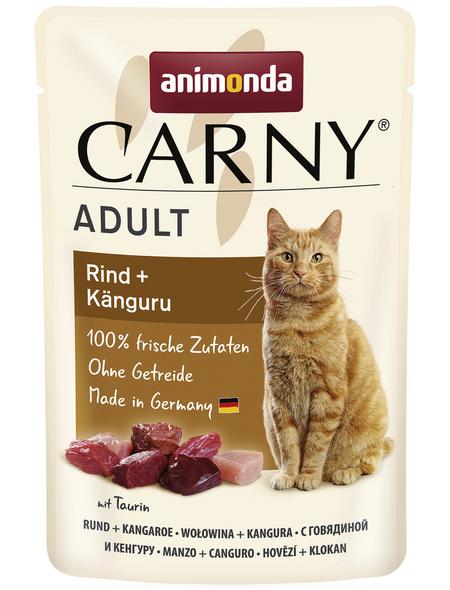 CARNY® Katzen-Nassfutter »Adult«, Rind/Känguru, 85 g