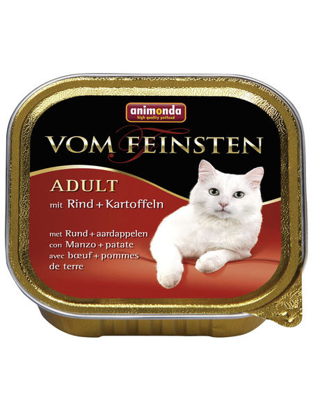 VOM FEINSTEN Katzen-Nassfutter »Adult«, Rind/Kartoffel, 100 g