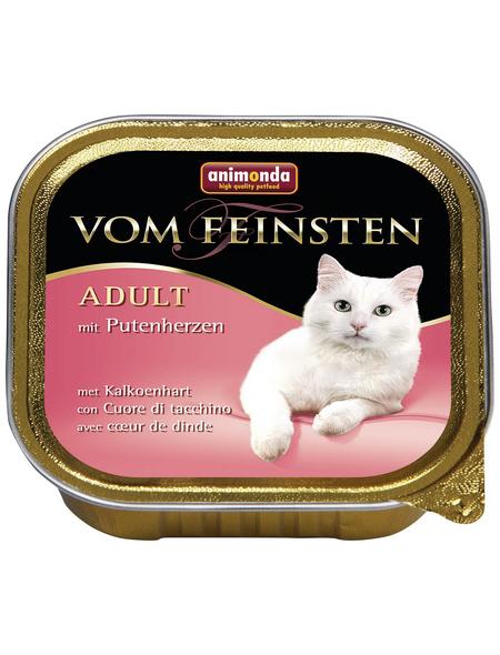 VOM FEINSTEN Katzen-Nassfutter »Adult«, Rind/Pute, 32 Schalen, je 100 g