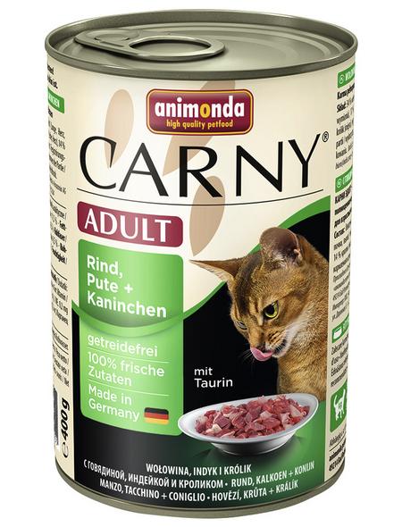 CARNY® Katzen-Nassfutter »Adult«, Rind/Pute/Kaninchen, 400 g