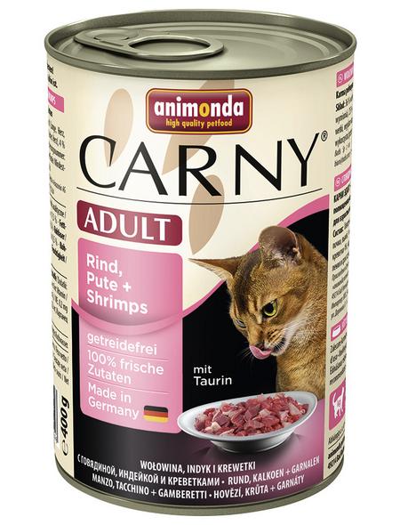 CARNY® Katzen-Nassfutter »Adult«, Rind/Pute/Shrimps, 400 g