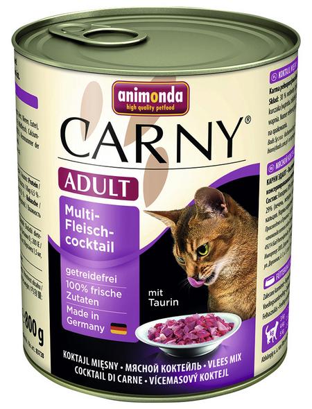 ANIMONDA Katzen Nassfutter »Carny «, Fleisch, 6x800 g