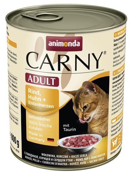 animondo Katzen Nassfutter »Carny «, Rind / Huhn, 6x800 g