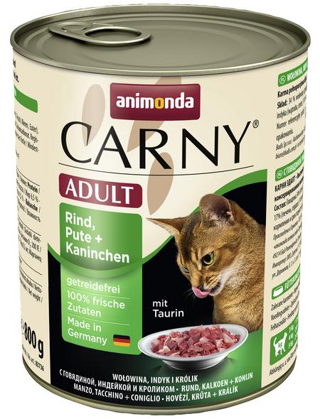 allco Katzen Nassfutter »Carny «, Rind / Pute / Kaninchen, 6x800 g